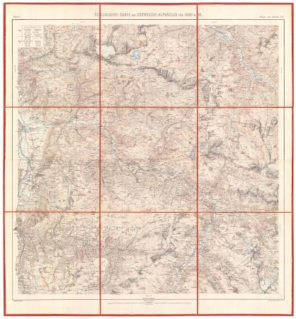 Excursions-Carte des Schweizer Alpenclub für 1890 & 1891