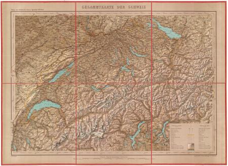 Gesammtkarte der Schweiz