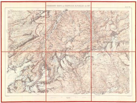 Excursions-Carte des Schweizer Alpenclub für 1877