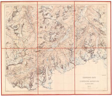 Excursions-Carte des Schweizer Alpenclub für 1878 & 1879