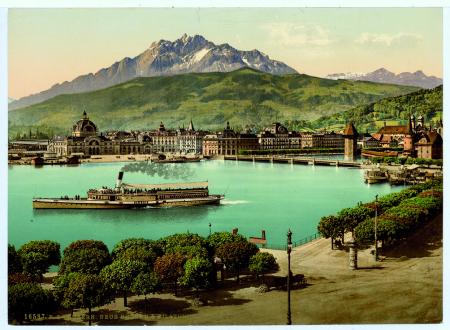 16587 Luzern. Neue Brücke & Pilatus