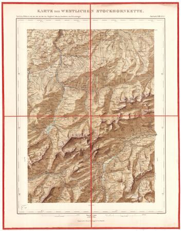 Karte der westlichen Stockhornkette
