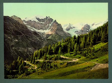 16929 Stilfserjochstrasse mit Ortler & Ortlerferner