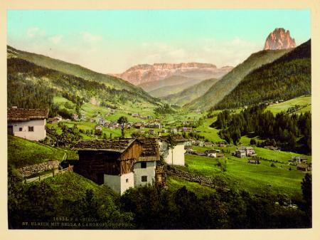 16934 Tirol. St. Ulrich mit Sella & Langkoflgruppe