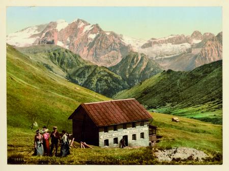 16937 Tirol. Marmolata vom Sellajoch aus