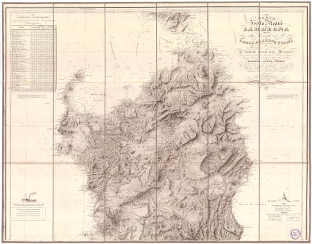Carta dell'isola e regno di Sardegna. [1]