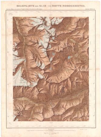 Reliefkarte des Saas- und Monte Morogebietes