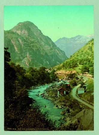 [1245 Ticino. Ferrovia S. Gottardo, 17598 Andermatt & das Urserental]