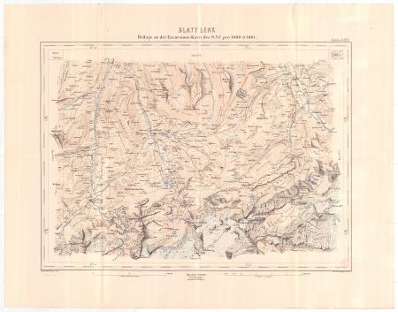 Blatt Lenk : beilage zu der Excursions-Karte des S.A.C. pro 1880 & 1881