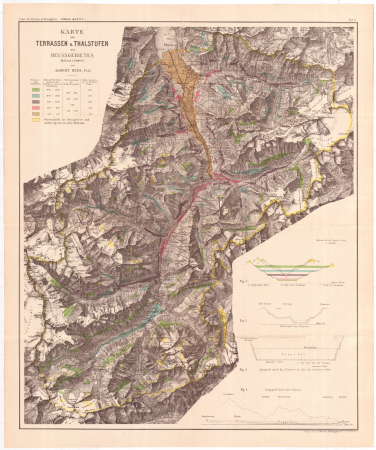 Karte der Terrassen u. Thalstufen des Reussgebietes