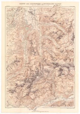 Karte der Allgaeuer & Lechtaler-Alpen