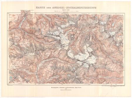 Karte der Ankogel-Hochalmspitzgruppe