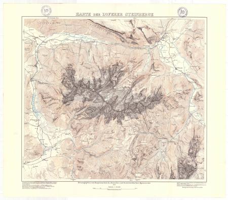 Karte der Loferer Steinberge