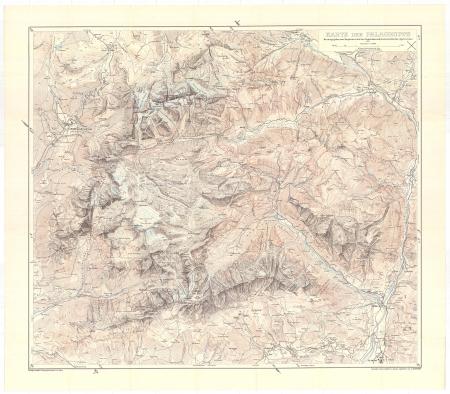 Karte der Palagruppe