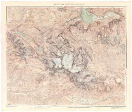 Karte der Dachsteingruppe