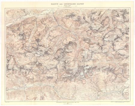 Karte der Lechtaler-Alpen