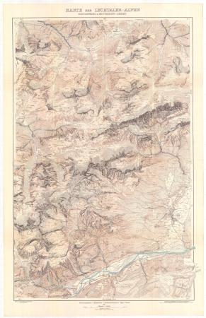 Karte der Lechtaler-Alpen : Heiterwand & Mutterkopf-Gebiet