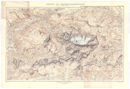 Karte der Marmolatagruppe
