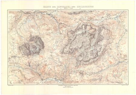 Karte der Langkofel- und Sellagruppe