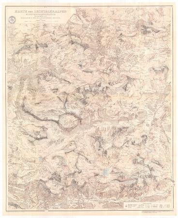 Karte der Lechtaleralpen : Klostertalergruppe