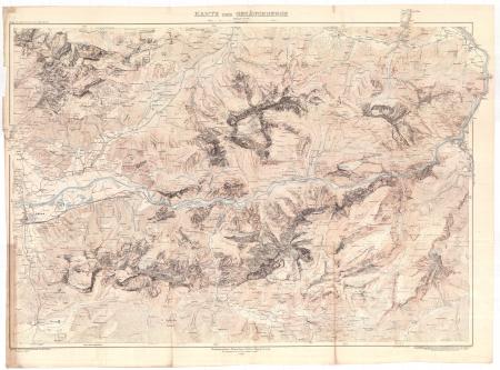 Karte der Gesäuseberge