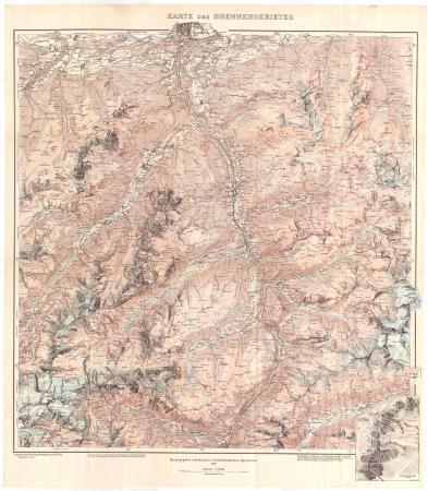 Karte des Brennergebietes