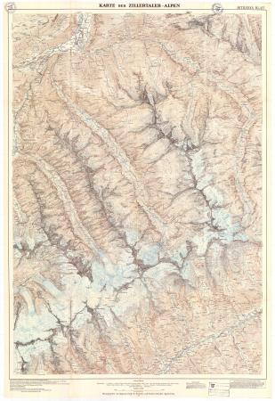 Karte der Zillertaler Alpen : mittleres blatt