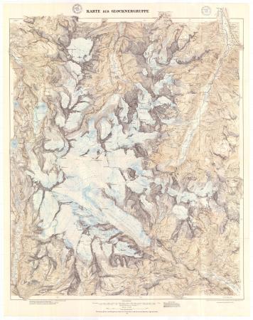 Karte der Glocknergruppe