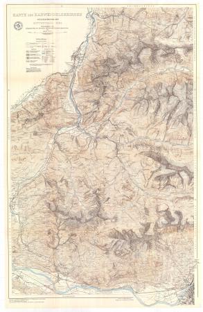 Karte der Karwendelgebirges : westliches blatt : Mittenwald-Zirl