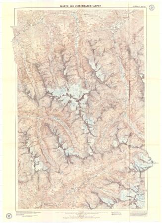 Karte der Zillertaler Alpen : östliches blatt