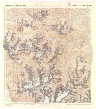 Karte der Stubaier Alpen : nordblatt (Sellrain)