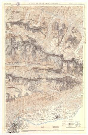 Karte der Karwendelgebirges : Hinter Riss-Innsbruck : mittleres blatt