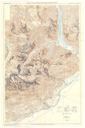Karte der Karwendelgebirges : Achensee-Schwaz : östliches blatt