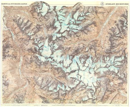 Karte der Stubaier Alpen : südblatt (Hochstubai)