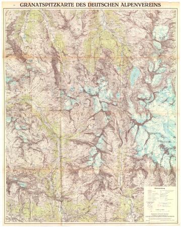 Granatspitzkarte des Deutschen Alpenvereins