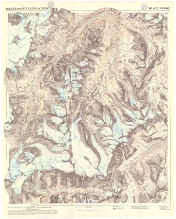 Karte der Ötztaler Alpen : blatt Gurgl