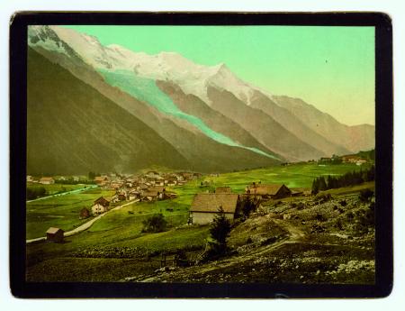 1373 Montblanc. Chamonix et le sommet du Montblanc
