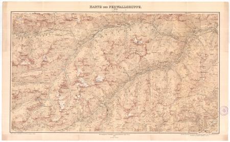 Karte der Ferwallgruppe