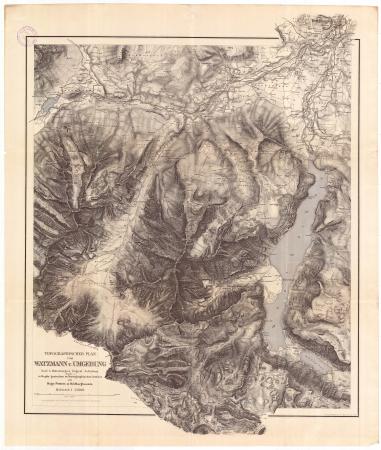 Topographischer plan vom Watzmann u. Umgebung