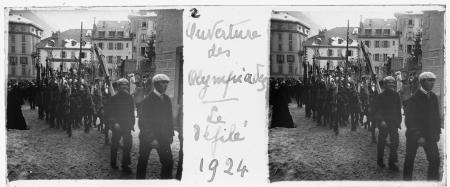 2 Ouverture des Olympiades. Le défilé 1924