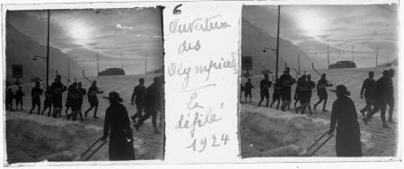 6 Ouverture des Olympiades. Le défilé 1924