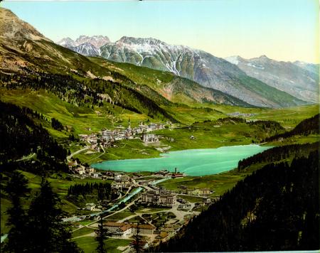 [Paesaggio con veduta di St. Moritz]