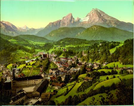 [Paesaggio con veduta di Berchtesgaden]
