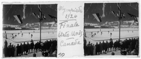 10 Olympiades 1924. Finale Etats-Unis Canada
