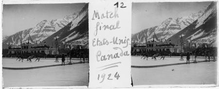 12 Match final Etats-Unis Canada 1924