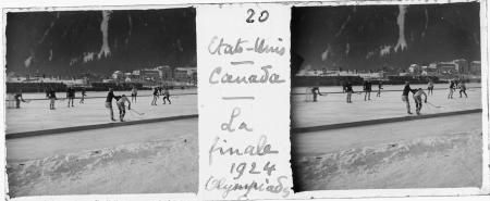 20 Etats-Unis Canada. La finale. Olympiades 1924