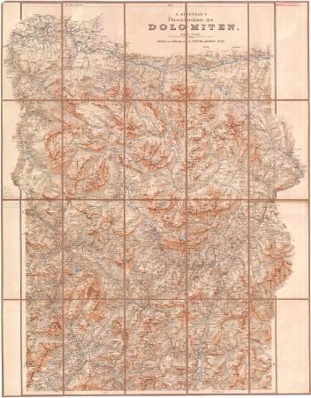 G. Freytag's Übersichtskarte der Dolomiten. Blatt 1