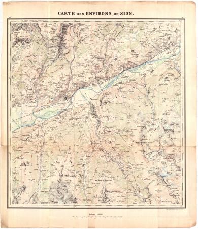Carte des environs de Sion