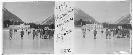 22 1924 Chamonix. Concours de figures