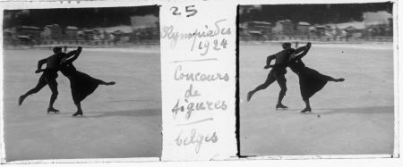 25 Olympiades 1924. Concours de figures. Belges